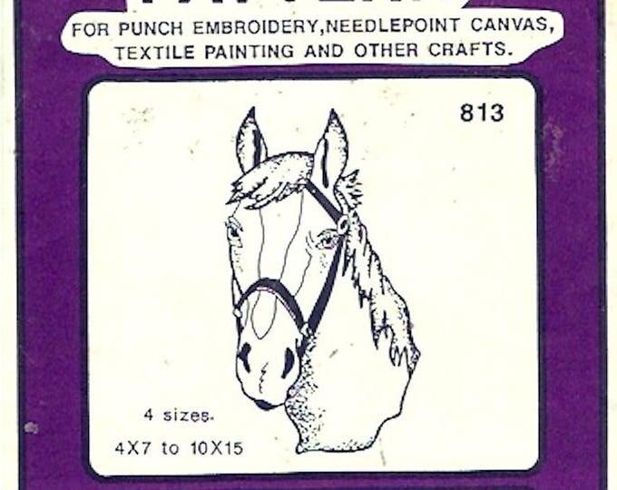 Horse Equestrian lover transfer pattern Pretty Punch 813 80s design Unopened vintage craft supplies