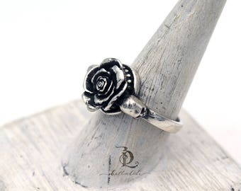Size 9.25 Immortal Rose // Sterling Silver statement ring, by BellaLili, Welded Silversmith