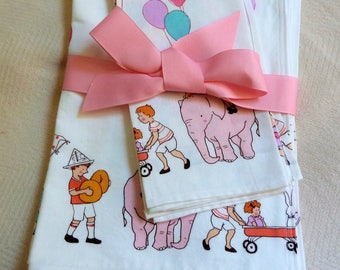 Set of 4 Sarah Jane Children on Parade Placemats and Napkins Ready to Ship Immediately