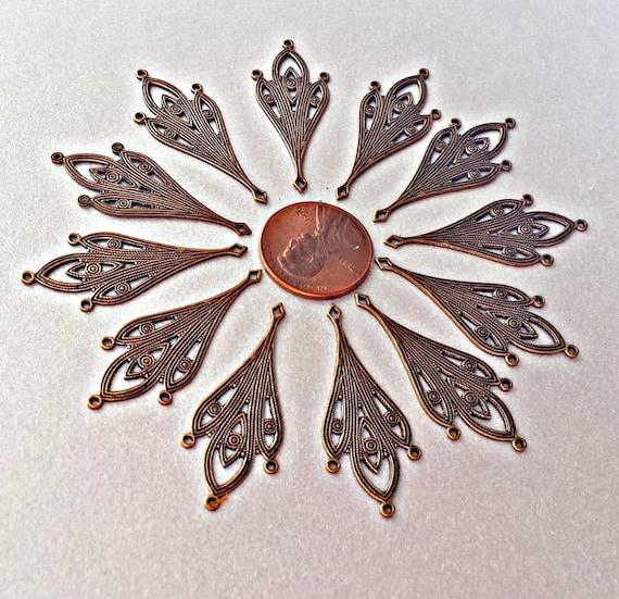 Chandelier Earring Parts, Antiqued Bronze, Brass Earring Pendants ...