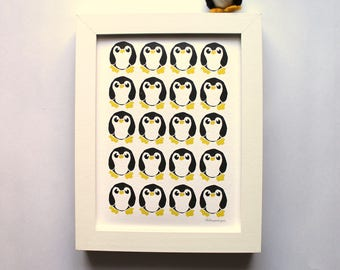 Penguin Print, A4 Print, A5 Print, Mini Print, Animal Print, Bird Print
