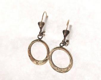 vintage 925 lever-back earrings