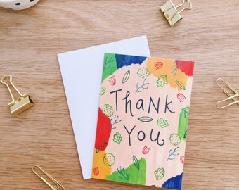 Thank You Card . Folded Card . Blank Card . Greeting Card . Gratitude . Appreciation . Thanks . Stationery lover . Snail mail