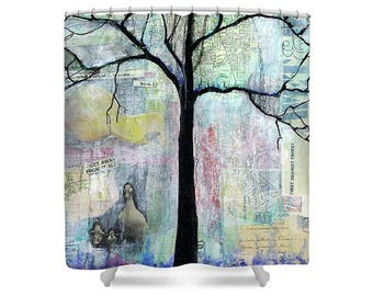 Shower Curtain, Nature Decor, Tree of Life, Bathroom Art, Gift For Couple, Gift for Her, Bathroom Decor, Shower Curtains, Bath Curtain