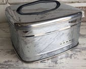 Vintage Cake Dome -Lincoln Beautyware Chrome Square Lid Only