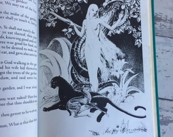 Animals of the Bible -Dorothy P Lathrop - Vintage Childrens Illustrated Book - 1930s Art Deco Hardcover Book