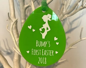 Bump's First Easter Ornament (Choice of Colours)