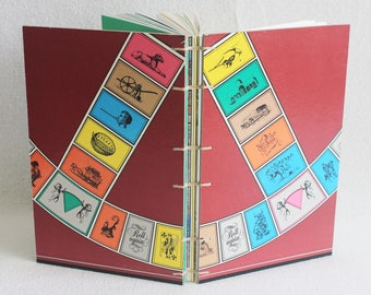 Trivial Pursuit Journal Recycled Vintage Game Board Book Upcycled Gameboard by PrairiePeasant