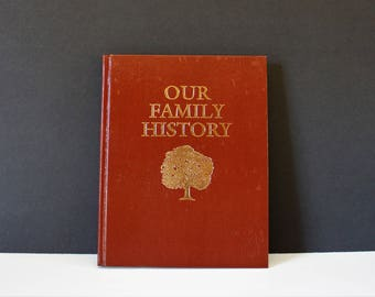 Vintage Family History Book / Wedding Gift / Family Tree Book / Vintage Baby Shower Gift