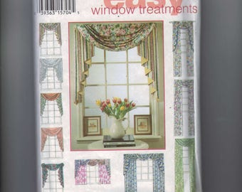 Craft Sewing Pattern Simplicity 9105 Design Your Own Window Treatments Curtains Window Shade Valance UNCUT