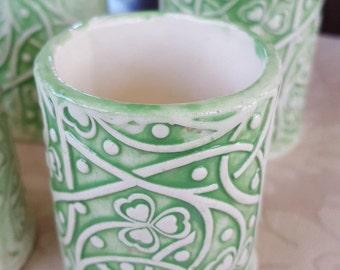 Handmade Ceramic Shooters, Succulent Vase, Shot Glasses, Pensil Holder