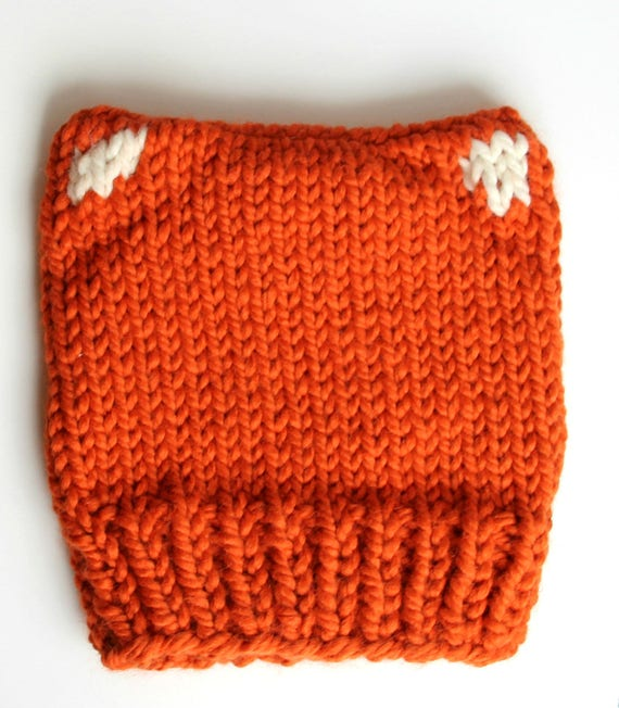 Knit Fox Hat