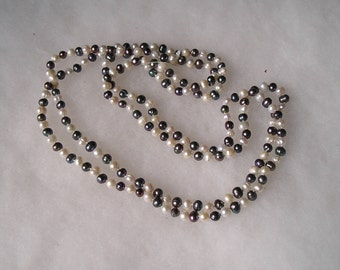 """Pretty Genuine Freshwater Pearl 58"""" Long Flapper Necklace"""