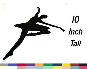 Ballerina Silhouette Embellishment Craft Supply Scrapbooking Card Making Die Cut 10 Inch Choose From 35 Poses