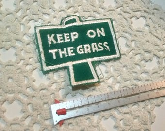 Keep ON the Grass Vintage Patch