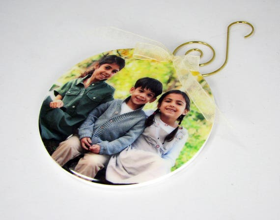 Personalized Holiday Photo Ornament - One-sided