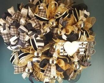 Golden Love Wreath