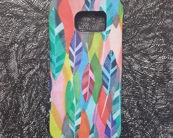 Feathers - unique artist designed mobile phone/cell phone cover/case for iPhone and Samsung Galaxy