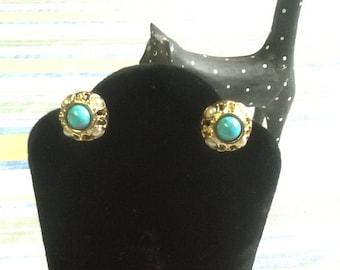 Beautiful multistage clip on vintage earrings