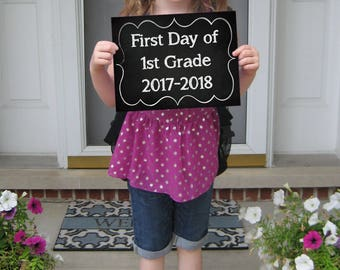 First Day of School Sign - PRINTABLE-PERSONALIZE-add COLOR