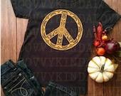 Peace Mandala Instant Download for Electronic Cutters silhouette cricut vinyl digital decal hippie boho chic t shirt heat transfer