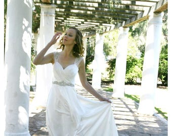 Sophia silk goddess wedding gown
