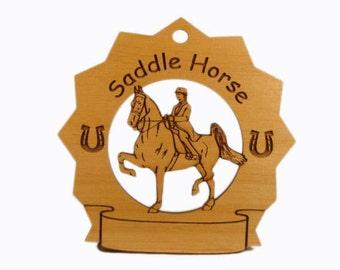 8280 Saddle Horse Personalized Wood Ornament