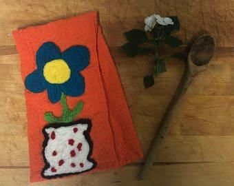 Kitchen Towel, Floral, Vase,