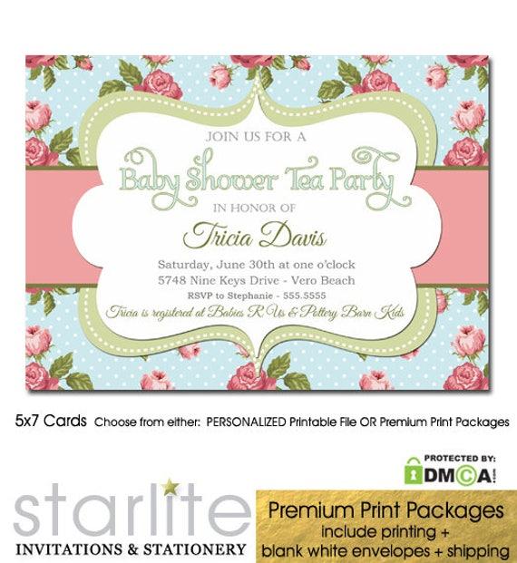 baby shower tea party invitation tea party baby shower invitation