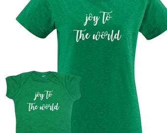 Christmas Mother Baby Mother Kid Matching Shirts - Great Gift Present Idea Matching Tshirts Mother Daughter / Mother Son - Twinning T Shirts