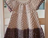 Crochet dress PATTERN - Pima Cotton Dress (sizes up to 6 years)