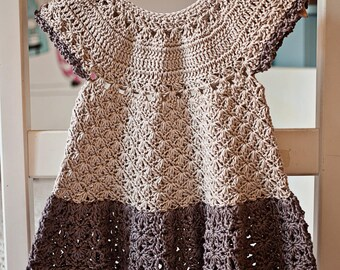 Crochet dress PATTERN - Pima Cotton Dress (sizes up to 6 years)