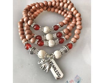 FEARLESS in the pursuit of my happiness - Mala Beads