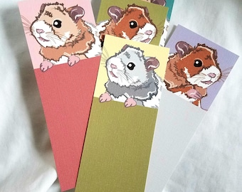 Hamster Bookmarks - Eco-friendly Set of 5