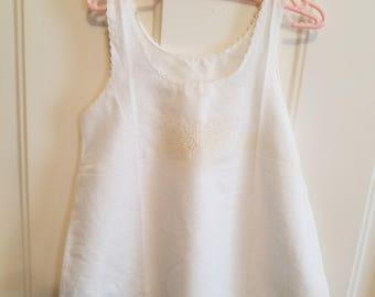 Antique White Cotton Slip Underslip Girl Infant Photo Prop Theater