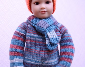 Bright Stripes outfit for Kidz'N'Cats, Gotz, Sylvia Natterer, American Girl and other 18'' dolls