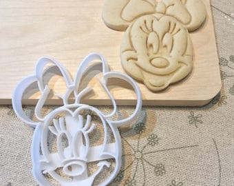 Minnie Mouse Cookie Cutter - Fondant Cake Cupcake Topper Royal Icing Cookie Iced Mold kid Birthday Party Favor Girl Baby Shower Tea Party