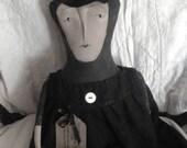 Primitive Folk Art Witch - Liddy Ninroot