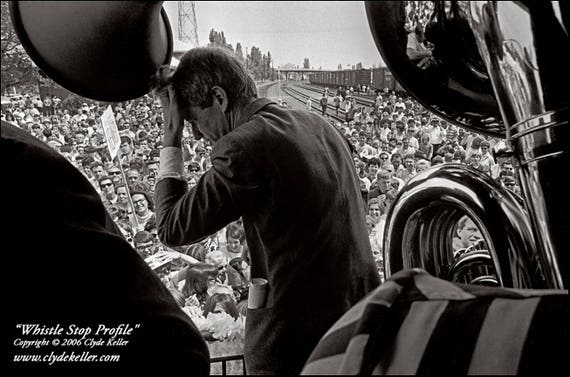 WHISTLE STOP PROFILE, Robert F. Kennedy, Clyde Keller 1968 Photo