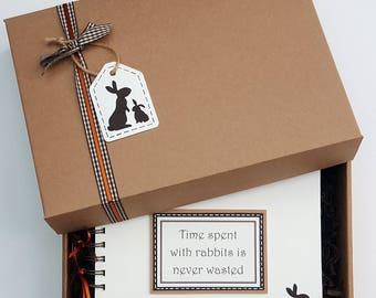 """Rabbit lover gift - rabbit scrapbook - bunny lover gift - bunny rabbit gift - rabbit mini album - rabbit themed gift - 8""""x 6"""" Memory Book"""