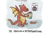 Dragon of Determination - Art Print - Encouragement - Supportive - Dragon Lover Gift - Cute Dragon - You Can Do It