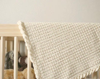 Pure Love Crochet Baby Blanket Pattern - beginner baby blanket pattern - crochet baby blanket pattern - summer baby blanket