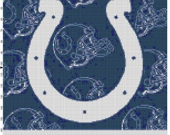 NFL Indianapolis Colts Flag Counted Cross Stitch Pattern