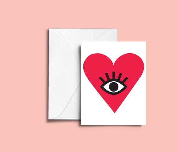 VALENTIN'S DAY My Love // Valentine's day Card, Scandinavian Design, Pastel colors, abstract art