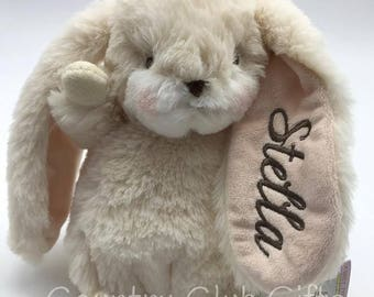 Personalized  bunny, Personalized baby gift, stuffed bunny with name, stuffed animal, Easter Basket, baby boy or girl gift,baby shower gift
