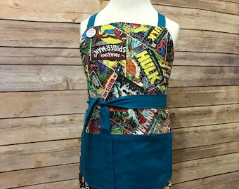Kid's Marvel Print Apron