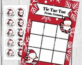 Snowman Tic-Tac-Toe Game with Candy Stickers Christmas Party Holiday Party Birthday Party Favor Treat Personalized Qty 8 TTT14