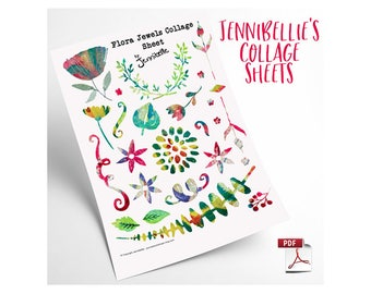Flora Jules Digital Collage Sheet by Jennibellie