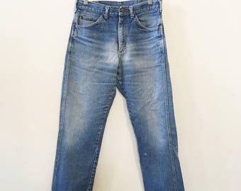 80's Lee Straight Leg Blue Jeans