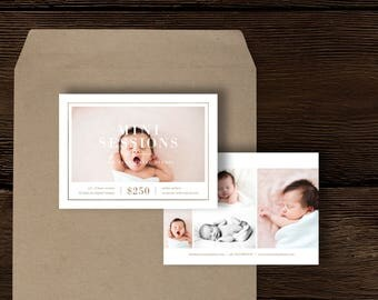 Photography Templates - Mini Session Template for Photographers - Newborn Photography Marketing Templates - Photo Collage